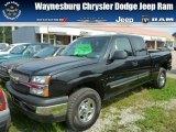 2004 Black Chevrolet Silverado 1500 LS Extended Cab 4x4 #85642615