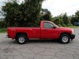 2007 Victory Red Chevrolet Silverado 1500 Work Truck Regular Cab 4x4 #85642471
