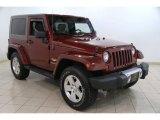 2010 Red Rock Crystal Pearl Jeep Wrangler Sahara 4x4 #85642890