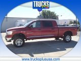 2006 Inferno Red Crystal Pearl Dodge Ram 1500 SLT Mega Cab 4x4 #85643011