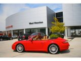 2008 Guards Red Porsche 911 Carrera 4S Cabriolet #854875