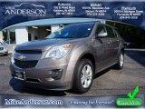 2010 Mocha Steel Metallic Chevrolet Equinox LS #85698715