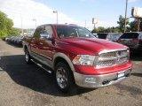 2009 Inferno Red Crystal Pearl Dodge Ram 1500 Laramie Crew Cab 4x4 #85698493