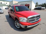 2007 Flame Red Dodge Ram 1500 SLT Quad Cab #85698472