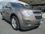 2010 Mocha Steel Metallic Chevrolet Equinox LS AWD #85777675