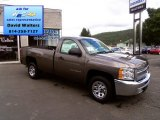 2013 Mocha Steel Metallic Chevrolet Silverado 1500 Work Truck Regular Cab #85777510