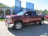 2014 Deep Ruby Metallic Chevrolet Silverado 1500 LT Double Cab 4x4 #85804160