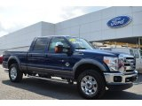 2012 Dark Blue Pearl Metallic Ford F250 Super Duty Lariat Crew Cab 4x4 #85804251