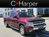 2009 Dark Cherry Red Metallic Chevrolet Silverado 1500 LT Extended Cab 4x4 #85804033