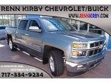 2014 Blue Granite Metallic Chevrolet Silverado 1500 LTZ Z71 Crew Cab 4x4 #85804463