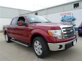 2013 Ruby Red Metallic Ford F150 Lariat SuperCrew #85854074