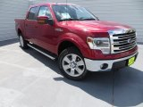 2013 Ruby Red Metallic Ford F150 Lariat SuperCrew 4x4 #85854257