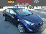 2012 Indigo Night Blue Hyundai Elantra Limited #85854061
