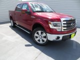 2013 Ruby Red Metallic Ford F150 Lariat SuperCrew 4x4 #85854256