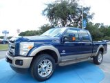 2014 Blue Jeans Metallic Ford F250 Super Duty King Ranch Crew Cab 4x4 #85854125