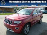 2014 Deep Cherry Red Crystal Pearl Jeep Grand Cherokee Overland 4x4 #85854239