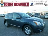 2013 Graphite Blue Nissan Rogue S AWD #85854400