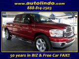 2008 Inferno Red Crystal Pearl Dodge Ram 1500 Big Horn Edition Quad Cab #85853836