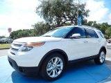 2014 White Platinum Ford Explorer Limited #85907347