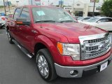 2013 Ruby Red Metallic Ford F150 XLT SuperCrew #85907255