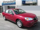 2007 Sport Red Metallic Chevrolet Malibu LS Sedan #85907151