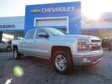 2014 Silver Ice Metallic Chevrolet Silverado 1500 LTZ Crew Cab #85961653
