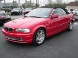 2002 Electric Red BMW 3 Series 330i Convertible #8578622