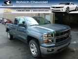 2014 Blue Granite Metallic Chevrolet Silverado 1500 LT Double Cab 4x4 #85961915