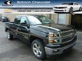 2014 Black Chevrolet Silverado 1500 LT Double Cab 4x4 #85961914
