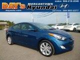 2013 Windy Sea Blue Hyundai Elantra Limited #86008362