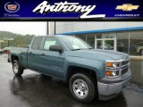 2014 Blue Granite Metallic Chevrolet Silverado 1500 WT Double Cab 4x4 #86008372