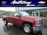 2014 Deep Ruby Metallic Chevrolet Silverado 1500 LTZ Z71 Double Cab 4x4 #86008371