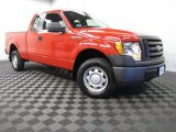 2010 Vermillion Red Ford F150 XL SuperCab 4x4 #86069413