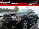 2010 Brilliant Black Crystal Pearl Dodge Ram 1500 Sport Crew Cab #86069142