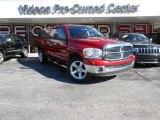 2007 Inferno Red Crystal Pearl Dodge Ram 1500 SLT Quad Cab #86069569