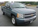 2009 Blue Granite Metallic Chevrolet Silverado 1500 LT Extended Cab 4x4 #86116551