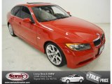 2006 Electric Red BMW 3 Series 330i Sedan #86116388