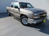 2006 Graystone Metallic Chevrolet Silverado 1500 LS Crew Cab #86116344
