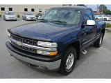 2002 Indigo Blue Metallic Chevrolet Silverado 1500 LS Regular Cab 4x4 #86158700