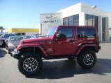 2012 Deep Cherry Red Crystal Pearl Jeep Wrangler Sahara 4x4 #86158783