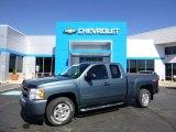 2010 Blue Granite Metallic Chevrolet Silverado 1500 LT Extended Cab 4x4 #86158391