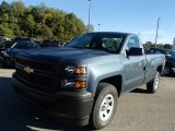 2014 Blue Granite Metallic Chevrolet Silverado 1500 WT Regular Cab 4x4 #86158373