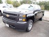2014 Black Chevrolet Silverado 1500 WT Double Cab 4x4 #86206494