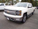 2014 White Diamond Tricoat Chevrolet Silverado 1500 LTZ Crew Cab 4x4 #86206488