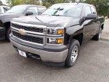 2014 Black Chevrolet Silverado 1500 WT Double Cab 4x4 #86206478