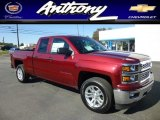 2014 Deep Ruby Metallic Chevrolet Silverado 1500 LT Double Cab 4x4 #86207199