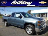 2014 Blue Granite Metallic Chevrolet Silverado 1500 LT Double Cab 4x4 #86207197