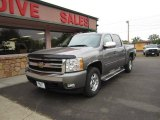 2008 Graystone Metallic Chevrolet Silverado 1500 LT Crew Cab 4x4 #86207185