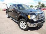2011 Ebony Black Ford F150 Lariat SuperCrew 4x4 #86206983