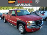 2005 Fire Red GMC Sierra 1500 SLE Extended Cab 4x4 #86206646